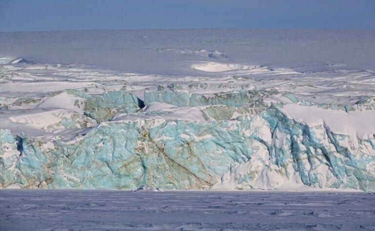Photo of Hayesbreen on the East Coast of Svalbard.