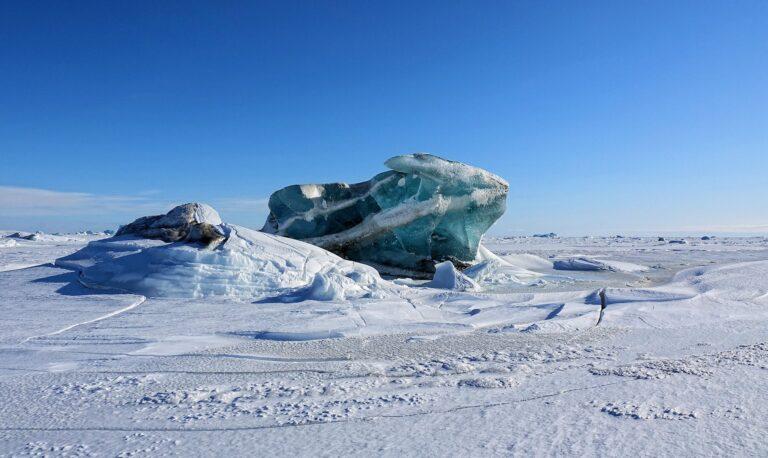 Photo of iceberg that looks like a bunny.