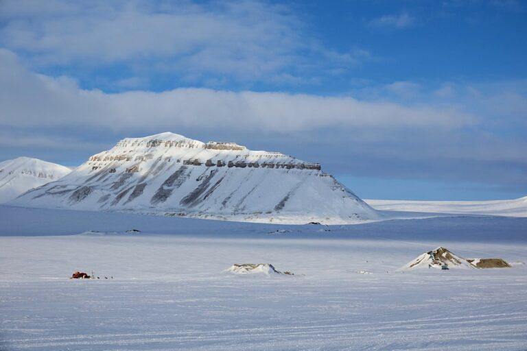 Photo of Moskushornet on Svalbard, Norway.